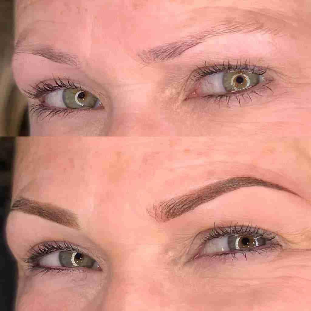 thin powder brow permanent eyebrows