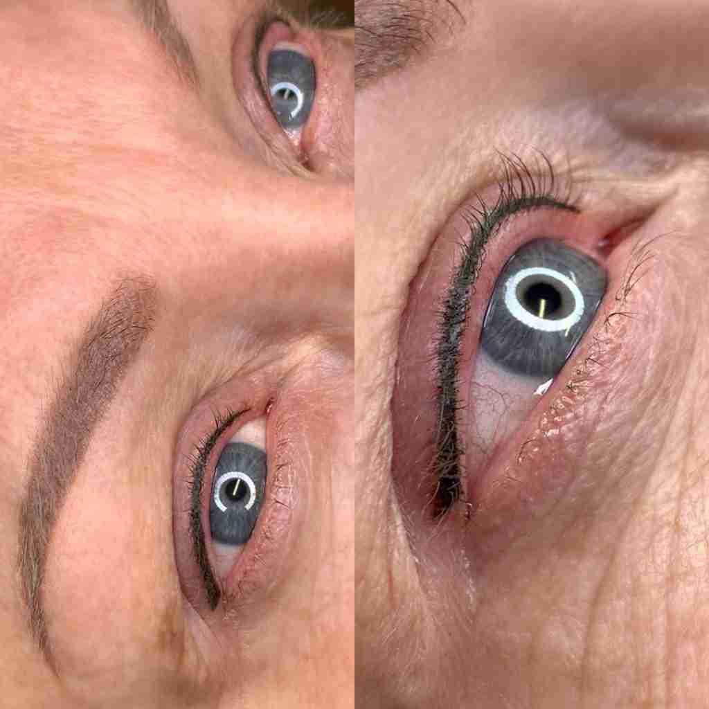 Eye Define Lash Enhancement Eyeliner Tattoo and powder brow