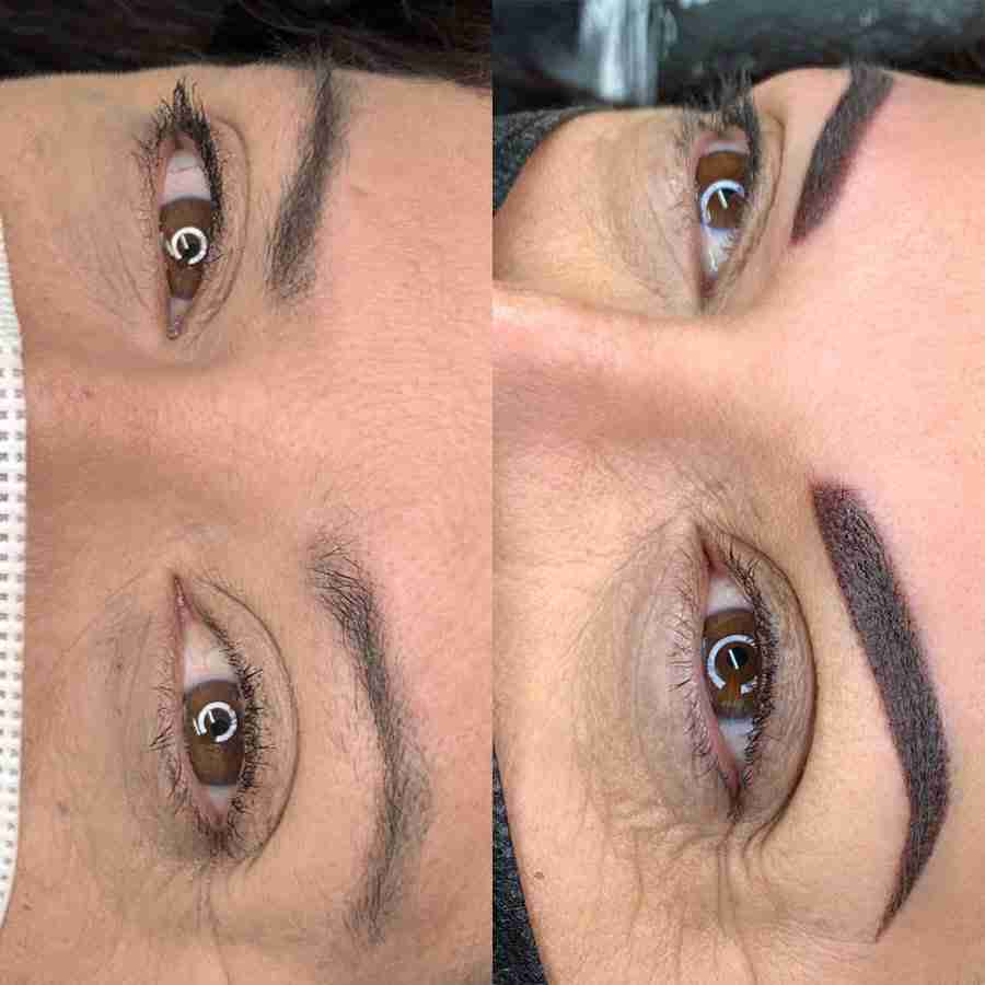 eyebrows tattooing coverup bad microblading