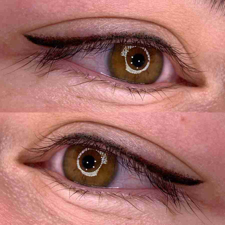 eyeliner tattoo with wing
