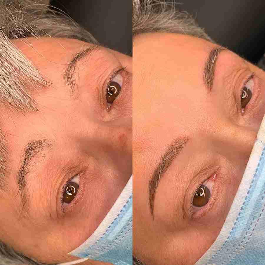 grey hair microblading