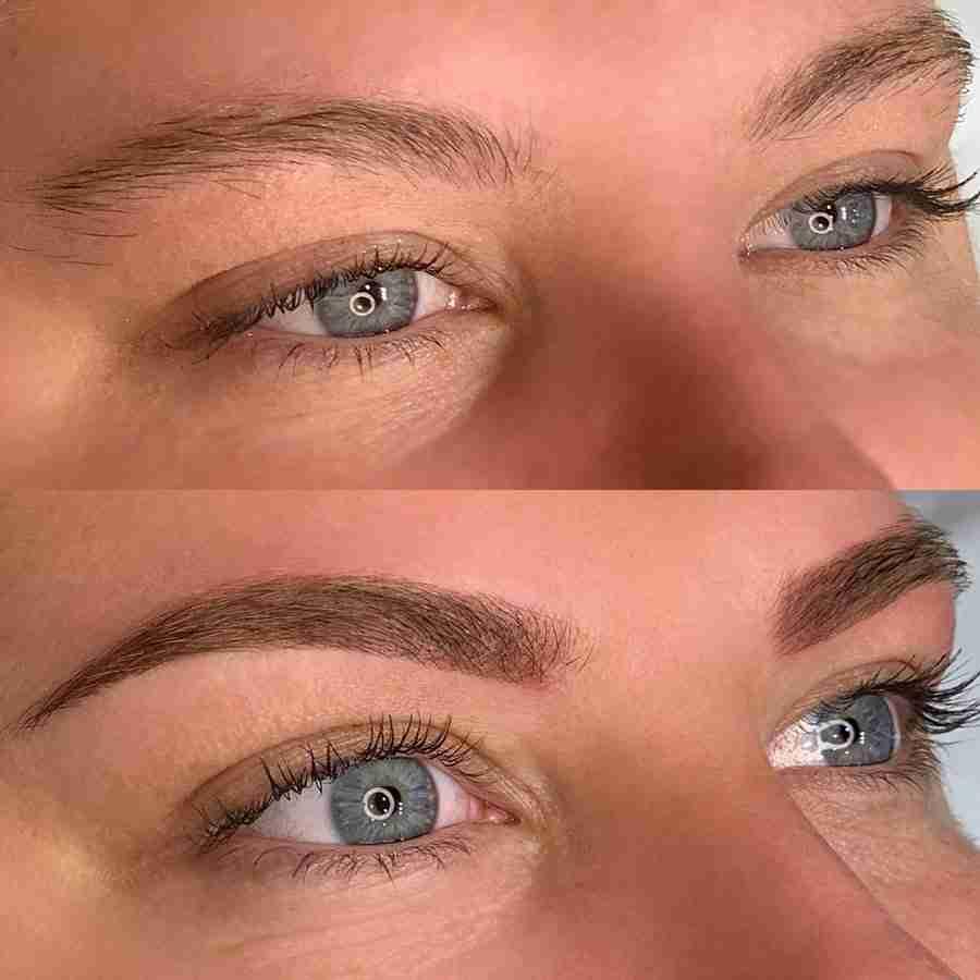 microshaded eyebrows