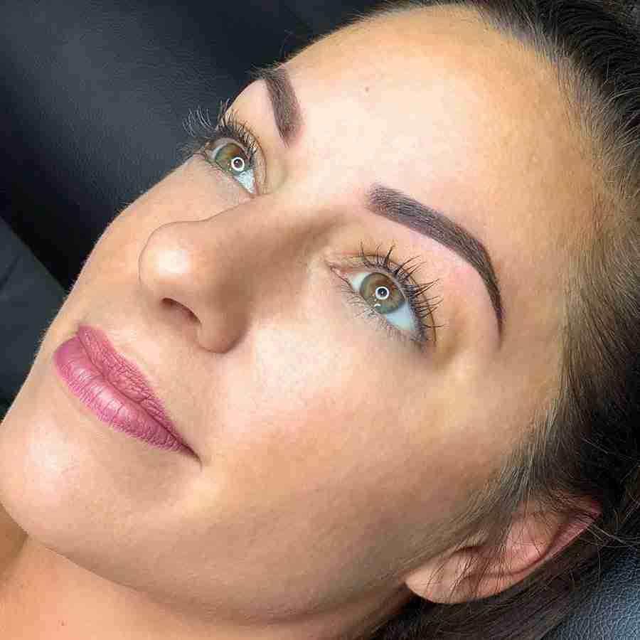 ombre powder eyebrows